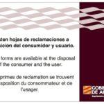 Cartel Hoja de Reclamaciones de Aragón