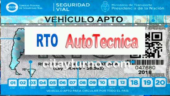 RTO AutoTécnica Información con Mapa-plano, Dirección, teléfono, precios, horarios y Turnos instalaciones del Taller de Revisión Técnica Vehicular (RTV), ubicadas en San Rafael Provincia de Mendoza
