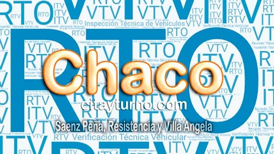 Información de las Planta de Revisión Técnica Vehicular de Chaco con Mapa-callejero, Dirección, teléfono, costo, horarios y RTO Turnos