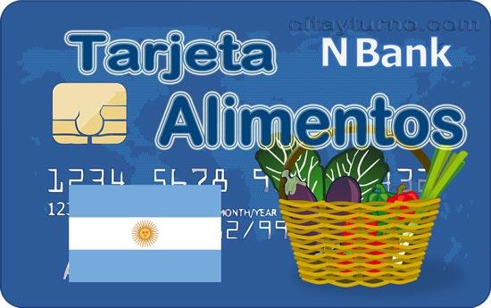 Tarjeta Alimento, tarjeta alimentar de ayuda para la compra de alimentos